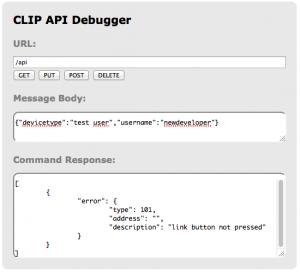 Hue API create new user
