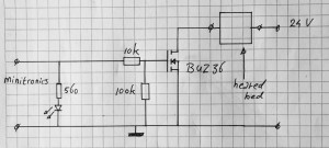 heated bed mosfet switch circuit diagram